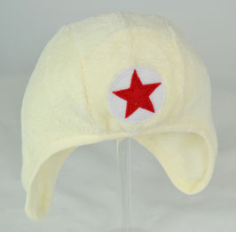 bonnet couvrant en fourrure couleur ecru kik kid