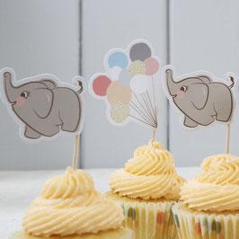 """10 Piques à gateau """" Petit éléphant"""""""