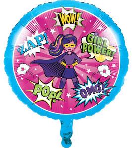 Ballon Super Héros Fille en Aluminium