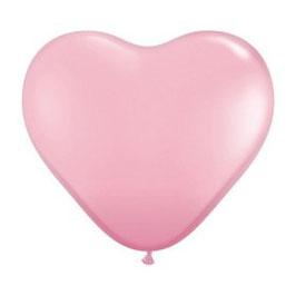 10 ballons coeurs roses clairs en latex