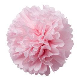 2 pompons en papier de soie rose pastel 50cms et 40cms