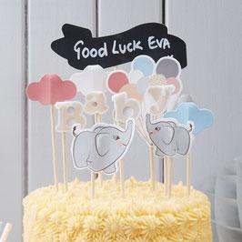 """Décoration gâteau """"Petit Elephant"""""""