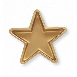 Asiette étoile plastique mordoré