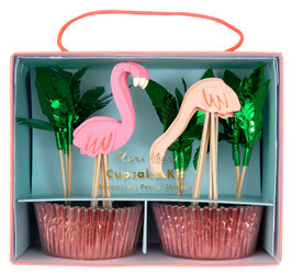 Kit Cupcakes Flamant Rose Meri Meri