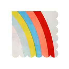 20 petites serviettes arc en ciel Meri Meri pour anniversaire licorne