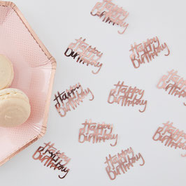 Confettis de Table Happy Birthday Rose Gold