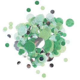 Mélange de Confettis de table verts argent