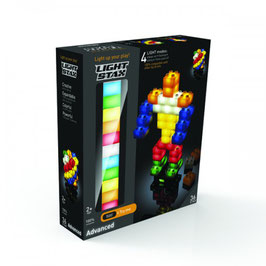 Pack de 36 briques lumineuses Light Stax avec base