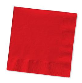 20 serviettes en papier rouge