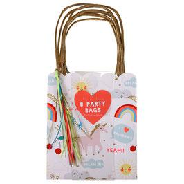 8 sacs à surprise Licorne pour invités Meri Meri