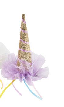 Barrette chapeau licorne dorée