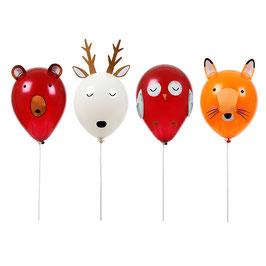 Kit 4 ballons animaux de la forêt meri meri