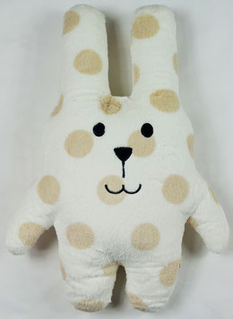 PELUCHE LAPIN SHERBET POIS BEIGE Craftholic