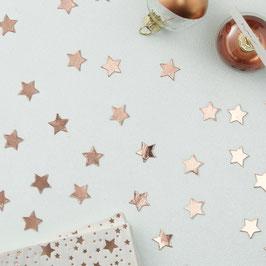 Confettis de table étoiles en carton rose gold