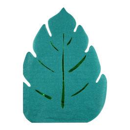 16 serviettes feuilles vertes thème Jungle meri meri