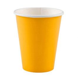 8 gobelets en carton coloris jaune