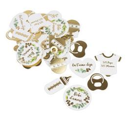 100 Confettis de Table Bébé d'Amour