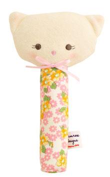 Hochet chat à fleurs 19cms Alimrose