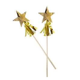 8 agitateurs étoiles filantes dorées