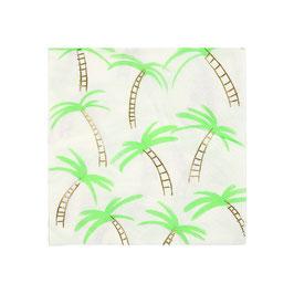 16 petites serviettes palmiers meri meri