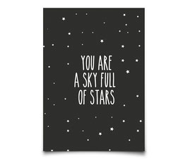 "Carte postale ""You are a sky full of stars"" Eef Lillemor"