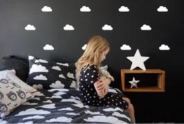Stickers muraux nuages blancs Pom le bonhomme