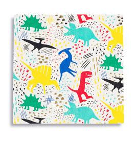 16 grandes serviettes dinosaures