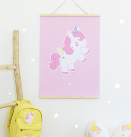 Affiche Baby Licorne A little Lovely Company