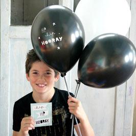 "Pack de 6 ballons ""Hip hip hooray"" A little Lovely Company"