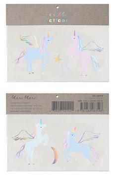 2 Planches de Tatouages Licornes Pastels Meri Meri