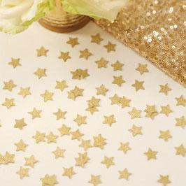 Confettis de table étoiles dorées