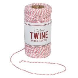 Ficelle Bakers Twine rose et blanc 75m
