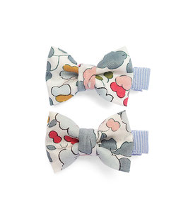 2 petites barrettes noeuds Liberty of London Betsy