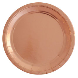 10 grandes assiettes rose gold