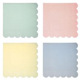 20 grandes serviettes pastels Meri Meri