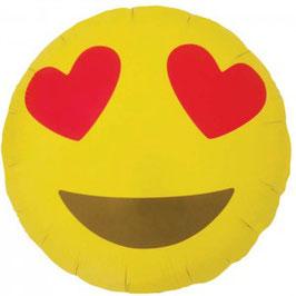 Ballon aluminium Emoji coeurs