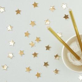 Confettis de table étoiles dorées brillantes
