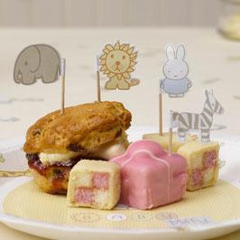 20 piques pour gateaux fête premier anniversaire Miffy