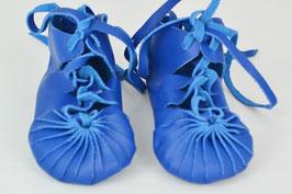chaussures bébé fille cuir lacées coloris bleu
