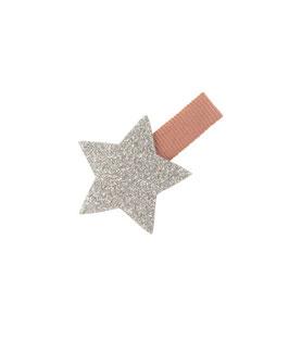 Petite Barrette pince vieux rose étoile argent