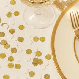 Confettis de Table Ivoires et Dorés