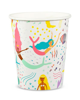 8 gobelets thème Sirène