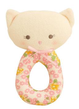 Hochet rond petit chat à fleurs Alimrose