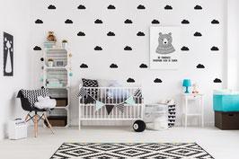 Stickers muraux nuages noirs Pom le bonhomme