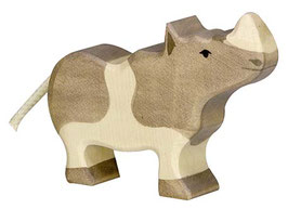 Petit Rhinoceros en bois Holztiger