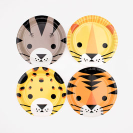 8 petites assiettes animaux de la jungle my little day