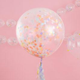 3 Ballons Géants Confettis Pastels