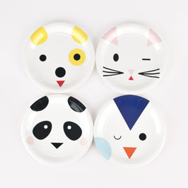 8 petites assiettes animaux kawai my little day