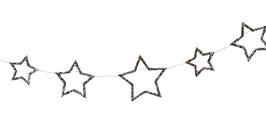 Guirlande 42 étoiles argentées meri meri