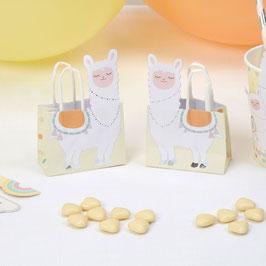 10 Mini Sacs Cadeaux Invités Lama Pastel